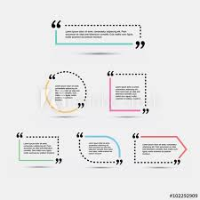 quote blank template template vector eps set empty quote