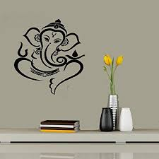 Ytrfg Creative Quote Wall Stickers Decal Decorative Removable Vinyl Stickers Ganesh Ji For Home Decor Wantitall
