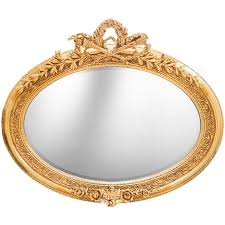 golden horizontal oval baroque mirror