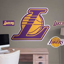 Los Angeles Lakers Alternate Logo Giant Officially Licensed Nba Removable Wall Decal By Fathead
