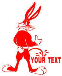Bugs Bunny Pee On Decal Sticker