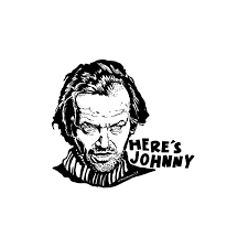 The Shining Here S Johnny Sticker Decal Glassy Vinyl Etsy Here S Johnny The Shining Heres Johnny The Shining
