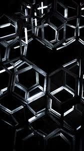 خلفيات موبايل سوداء مختلفة مربع