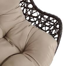 wilko palma hanging garden egg chair