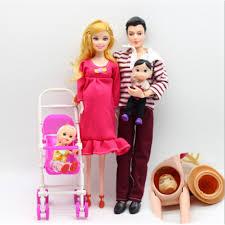 QB 6 Cái/lốc Búp Bê Gia Đình Giáo Dục Thực Búp Bê Mang Thai Hạnh Phúc Gia  Đình Đối Với Barbie