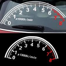 Amazon Com Fashion Reflective Car Sticker Rear Windshield Speedometer Decor Graphics Decal Computers Accessories
