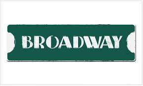 Amazon Com Cafepress Broadway Street Sign Rectangle Bumper Sticker Car Decal Home Kitchen
