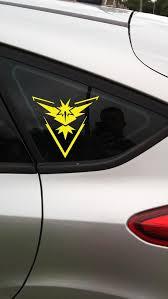 Pokemon Go Team Instinct Sticker Vehicle Sticker Free Etsy