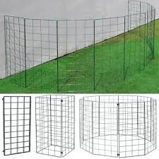 Folding 4 10ft Dog Fence Barrier In Outdoor Pet Fencing Play Pen Expanding Panel Ebay