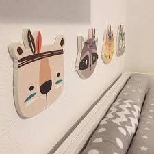 Nursery Childrens Room Wall Sticker Boho Tribal Indian Cartoon Fox Cat Wall Prints For Kids Baby Room Decoration Idea Wall Stickers Aliexpress
