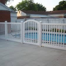 Wambam Fence 4 Ft X 4 Ft Premium Vinyl Yard And Pool Fence Gate With Powder Coated Stainless Steel Hardware Vg13005 The Home Depot
