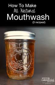 how to make all natural mouthwash