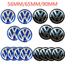 4x Vw 56 65 90mm Car Wheel Center Hub Caps Emblem Sticker Decals For Volkswagen Ushirika Coop