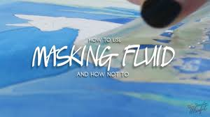 how to use masking fluid in watercolor