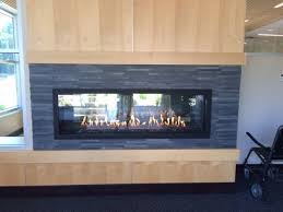 commercial custom gas fireplace by acucraft