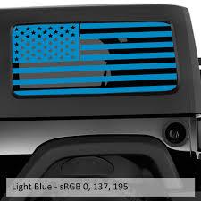 Jeep Wrangler Jk Jl American Flag Window Hardtop Set Vinyl Decal Jeep Wrangler Decal