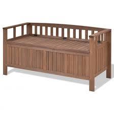 storage garden bench deck box 70 gallon