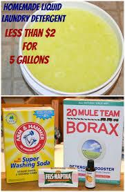 homemade liquid laundry detergent less
