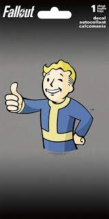 Amazon Com Trends International Fallout Vault Boy 4 Color Decal 4 X 8 Toys Games