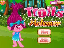 trolls makeover trolls games play
