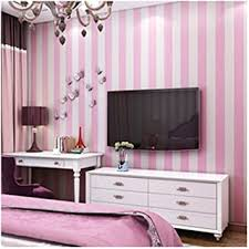 Pink Blue Wide Striped Wallpaper For Kids Room Wall Decal Self Adhesive Bedroom Living Room Stripes Wall Papers Home Decor Pink 0 53mx3m Amazon Com