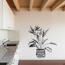 Bird Of Paradise Potted Plant Wall Decal