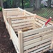 Amazon Com Greenes Fence Rccomp48 Cedar Wood Composter 48 L X 48 W X 31 H 309 17 Gallons Garden Outdoor