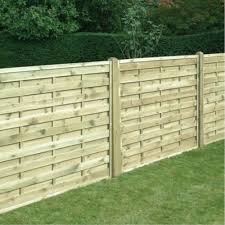 Horizontal Fence Panel Square 1 5m Wooden Supplies