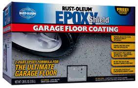 rust oleum shield garage floor paint