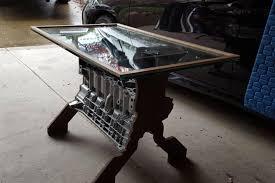 bmw engine block coffee table
