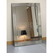 rectangle bevelled wall mirror