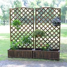 Usd 66 07 Balcony Outdoor Screen Flower Pot Frame Anti Corrosion Wood Fence Flower Slot Courtyard Decorative Climbing Rattan Frame Wooden Fence Partition Wholesale From China Online Shopping Buy Asian Products Online