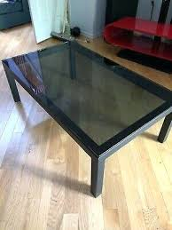 crate and barrel glass top coffee table