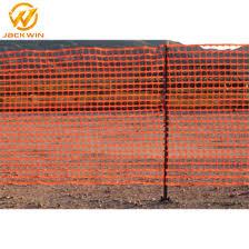 China Orange Safety Fence Plastic Netting Fencing Mesh Roll For Construction China Orange Safety Fence Plastic Fence