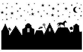 Sinterklaas Op Het Dak Leuk Als Sjabloon Voor Een Lampje