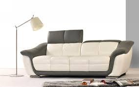 9566 modern 2 tone leather sofa set