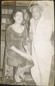 Priscilla Bowman and an unidentified man at Mel's Hideaway | Digital  Special Collections