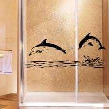 Retro Dolphin Wall Stickers Creative For Kids Room Decoration Living Room Bedroom Showerroom Decor Wall Decal Mural Wall Sticker Wall Stickers Aliexpress