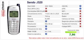 Datos del móvil en tu página Sendo J520 ...