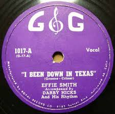 Effie Smith - I Been Down In Texas / Root-Lie-Voot (1946, Shellac) | Discogs