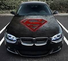 Vinyl Car Hood Wrap Full Color Graphics Decal Superman S Logo Livery Sticker Ebay