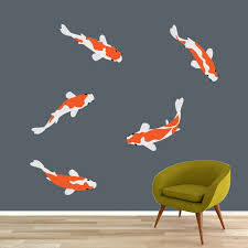 Shop Koi Fish Printed Wall Decal Set Overstock 22174544