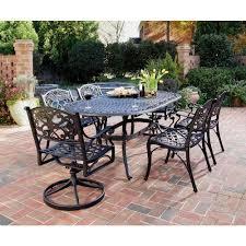 black 7 piece patio dining set