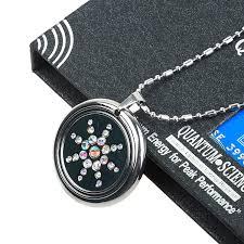 quantum science pendant necklace