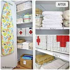 linen closet organization small home
