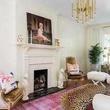 living room leopard print bench design