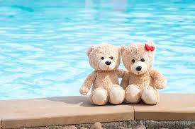 sea beach love toy bear pair