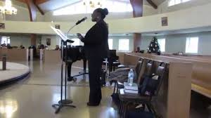 LaKeisha Smith sings THIS BATTLE IS NOT YOURS at Elsie Barnes' 9 ...