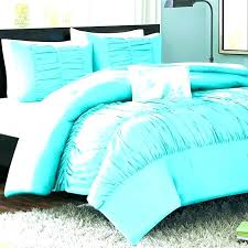 light blue twin bedding bed in a bag