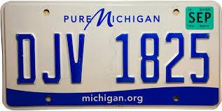 vehicle registration plates of michigan
